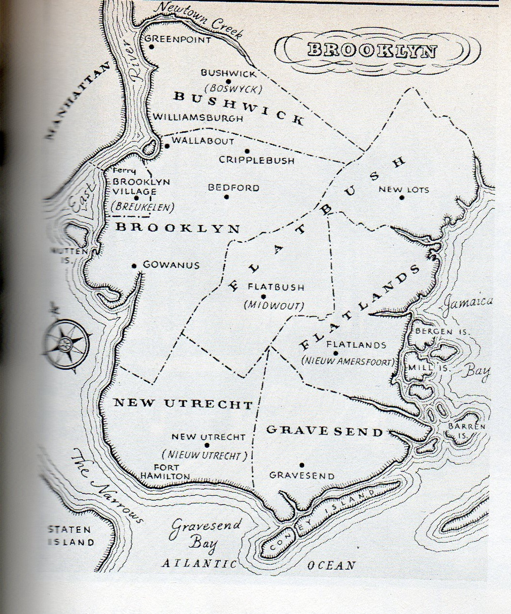 The six towns of brooklyn