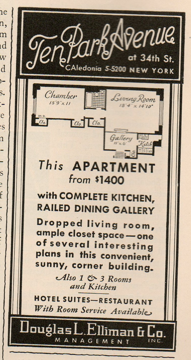 Swanky Apartment Ads From The 1930s Ephemeral New York