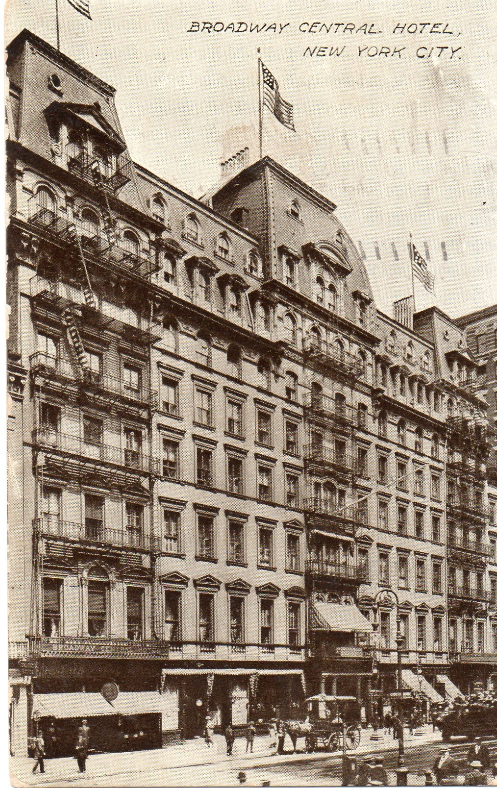 The collapse of broadway s grandest hotel ephemeral new york for Grand tableau new york
