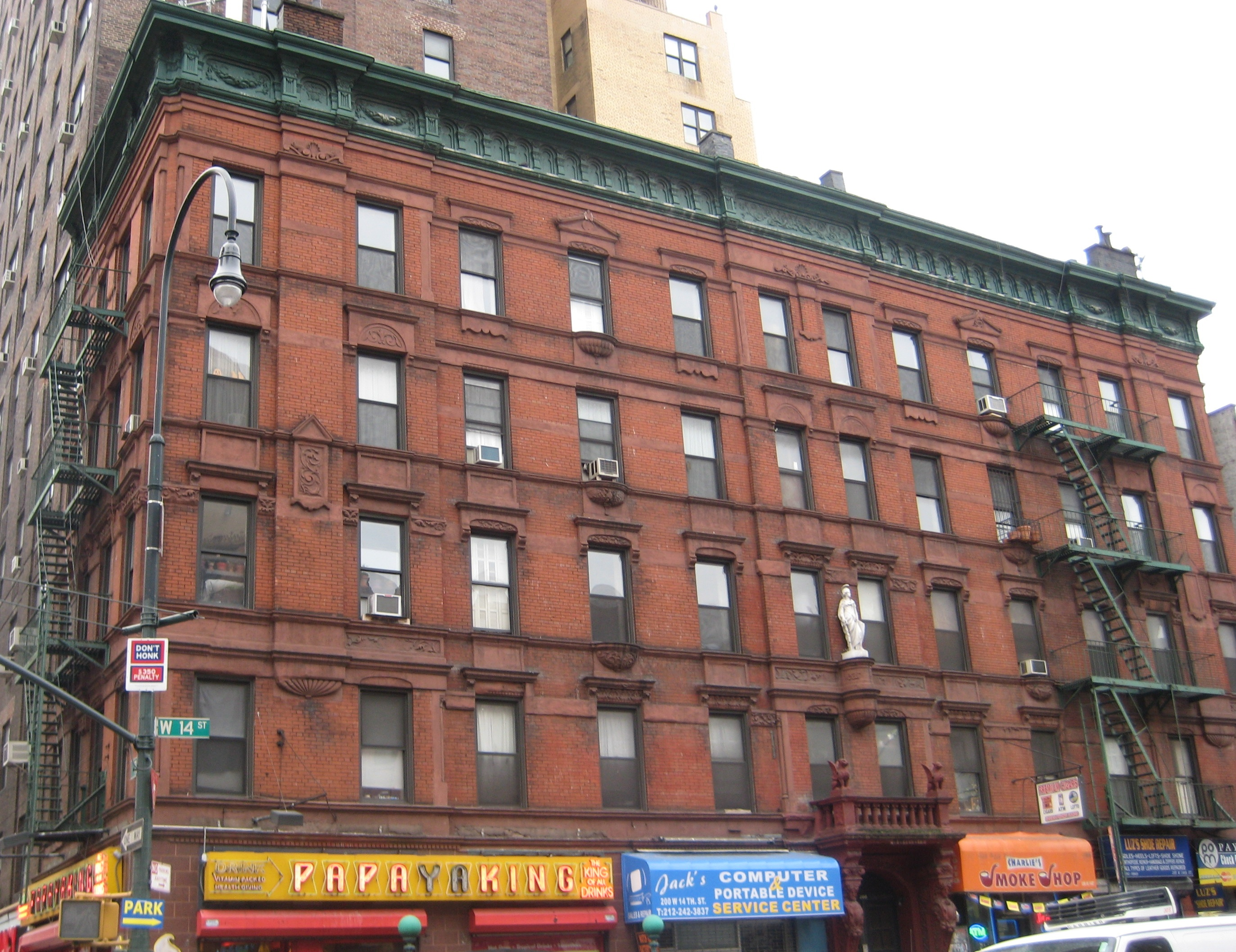Called the Jeanne d   Arc  the building is a remnant of the brief time    Brick Apartment Building