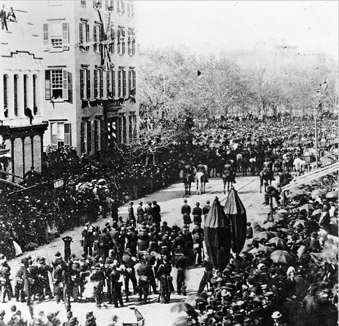 Who is watching Lincoln's funeral procession? | Ephemeral ...
