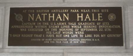 Nathanhaleplaque44thstreet