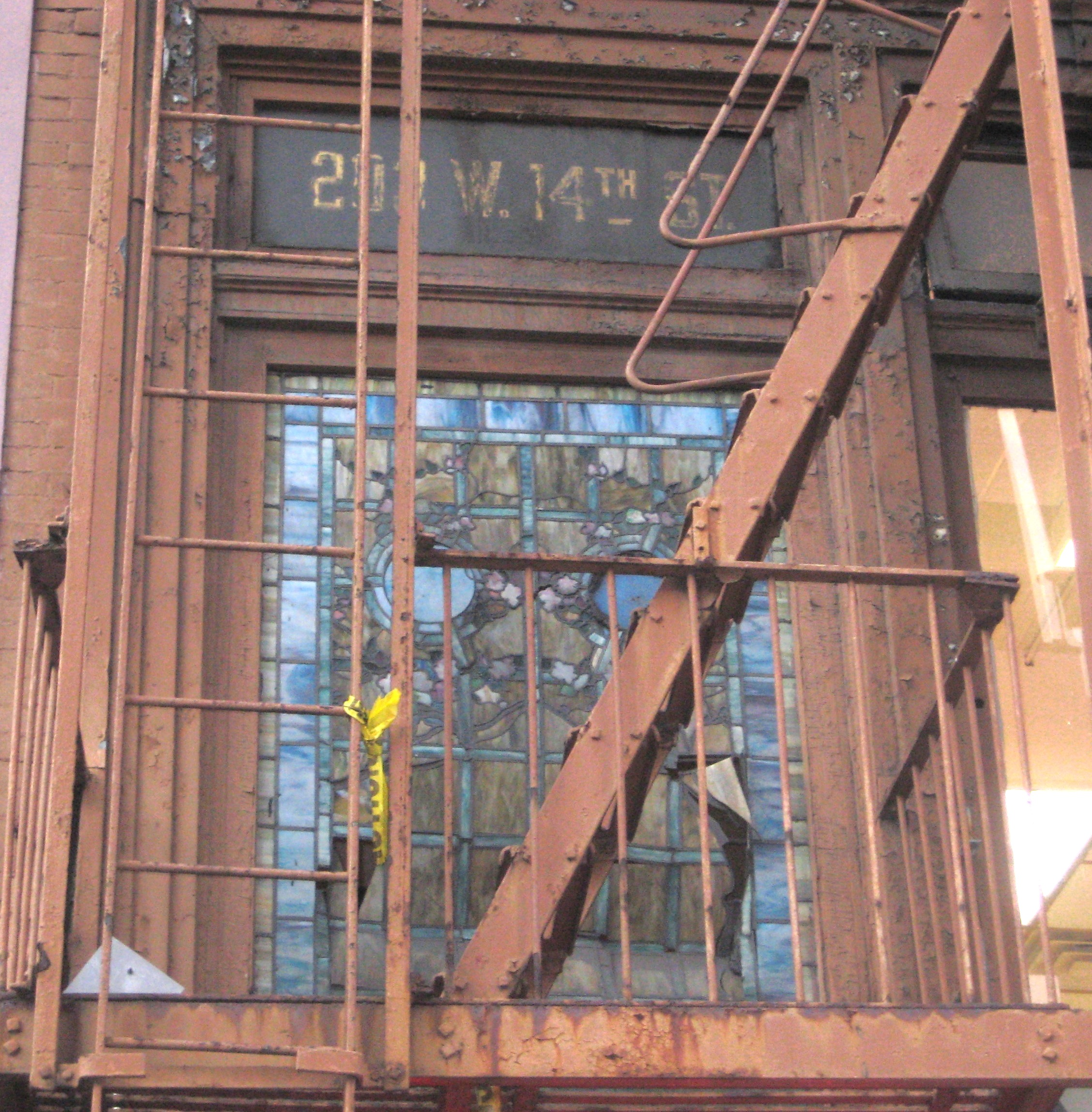 A stained glass surprise on west 14th street ephemeral for 14th avenue salon