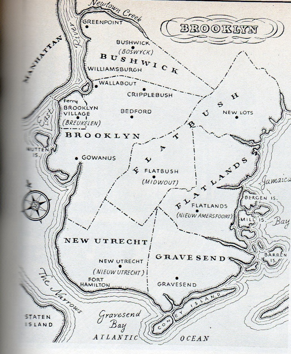 New York Map 1800.Map Of Old Brooklyn Ephemeral New York