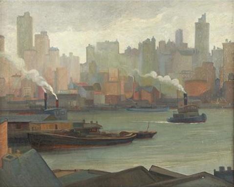 Queensboro Bridge This painting has some...