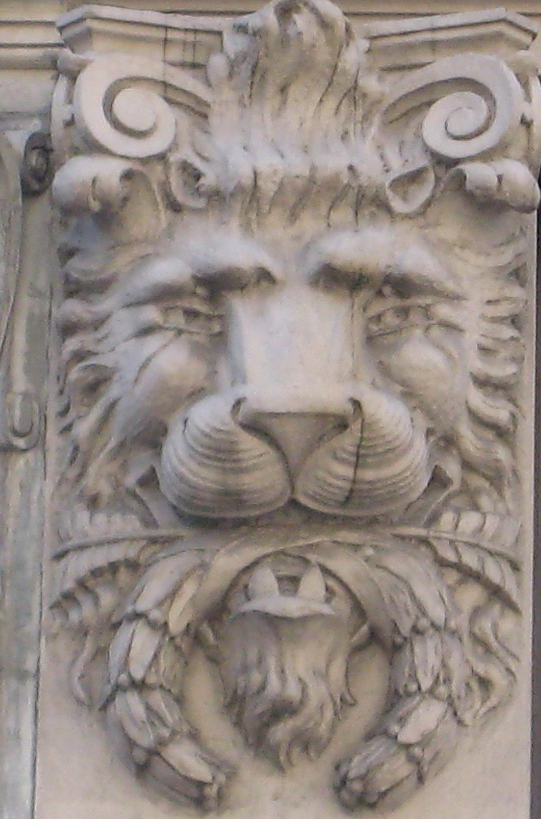 The lions adorning city buildings | Ephemeral New York