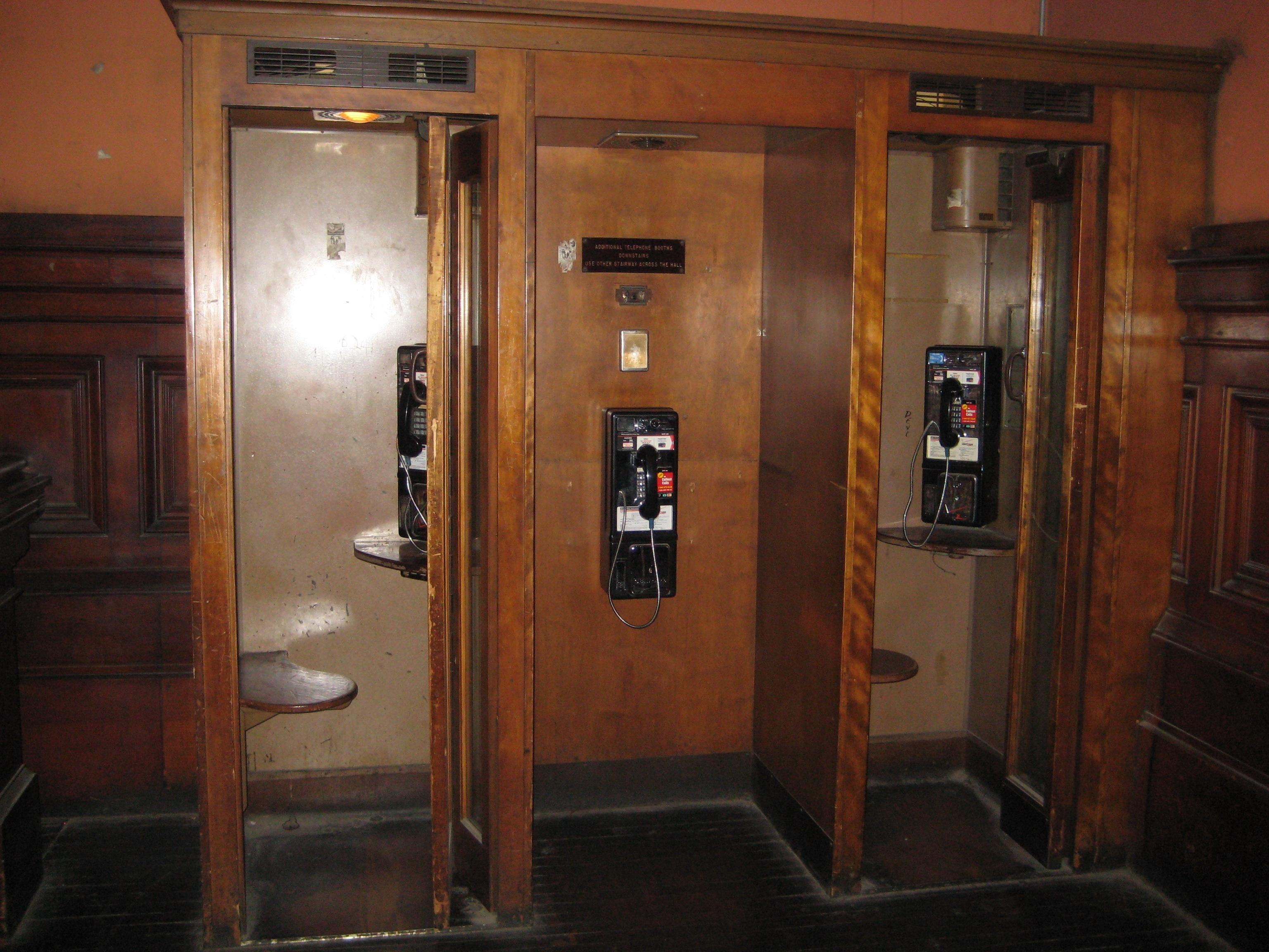 Wooden Phone Booths Ephemeral New York