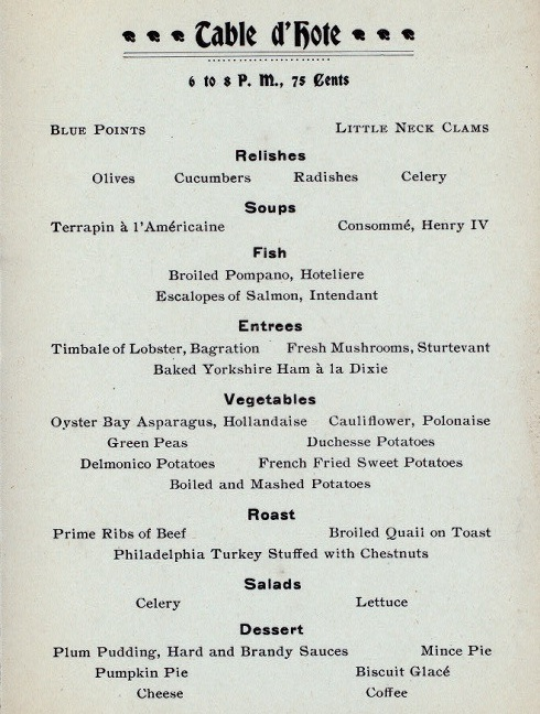 1920 dinner menu this menu marks one of the final thanksgivings at
