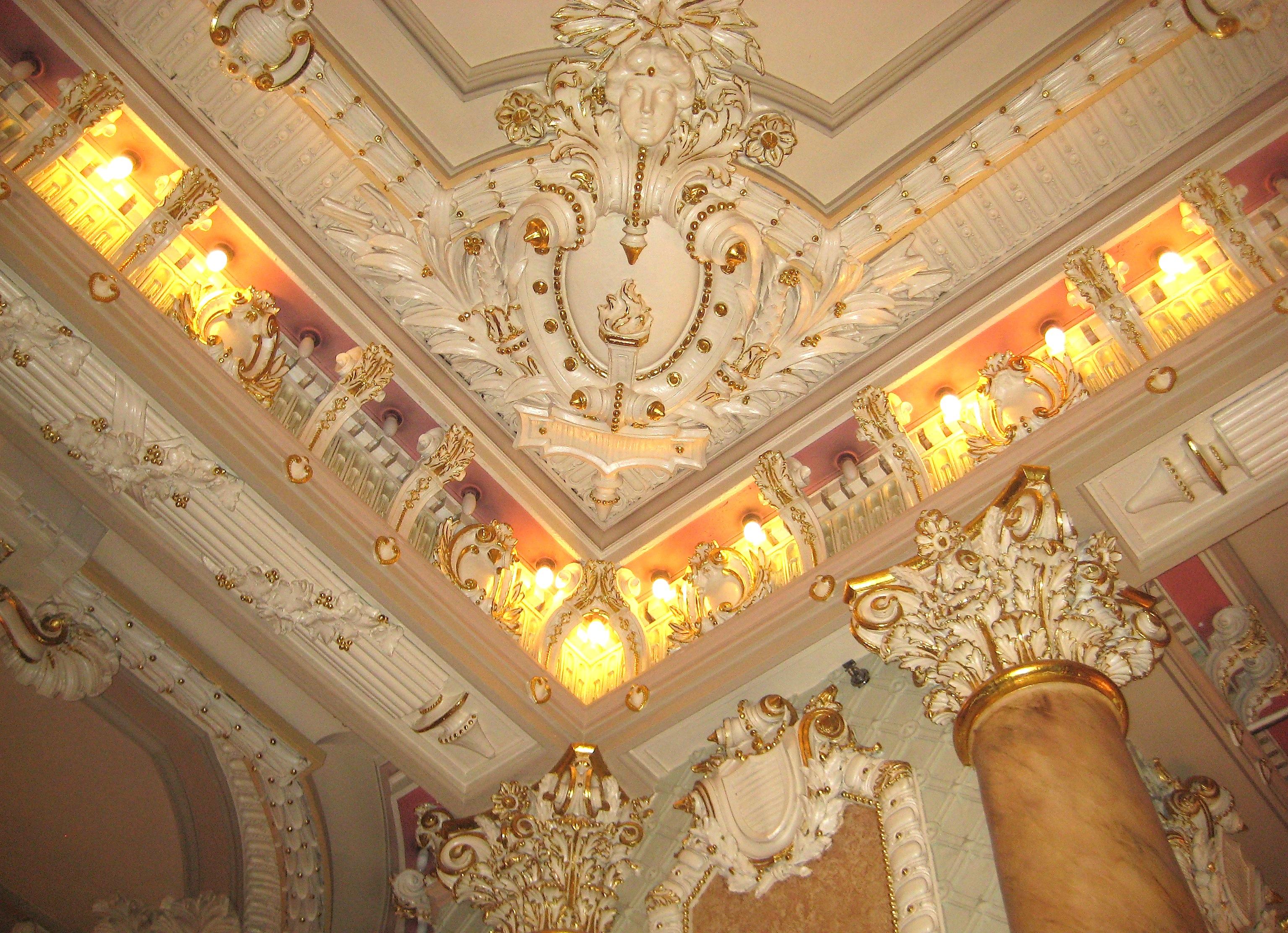 The wildly ornate lobby inside a budget hotel | Ephemeral