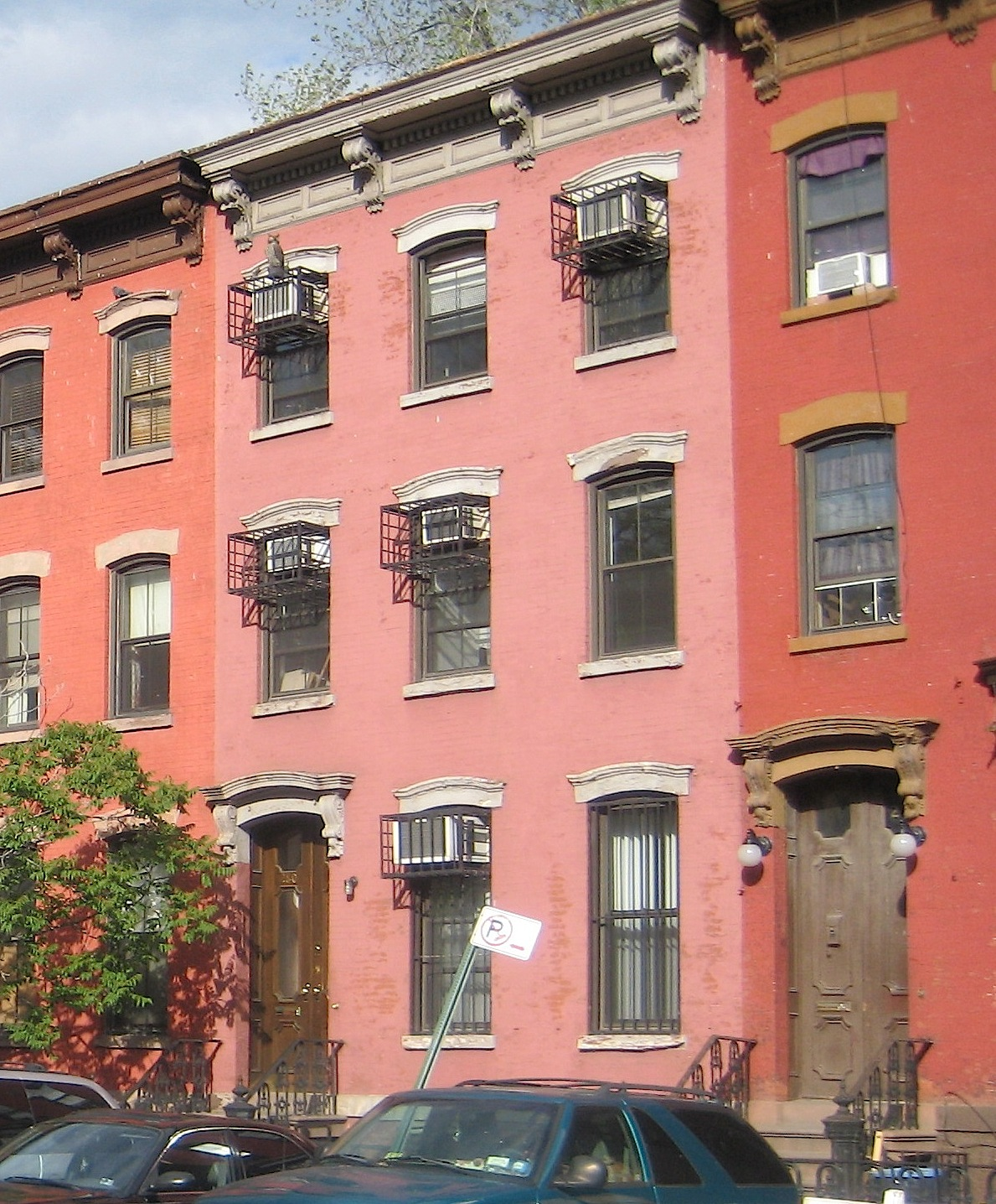 Pink houses New York City | Ephemeral New York