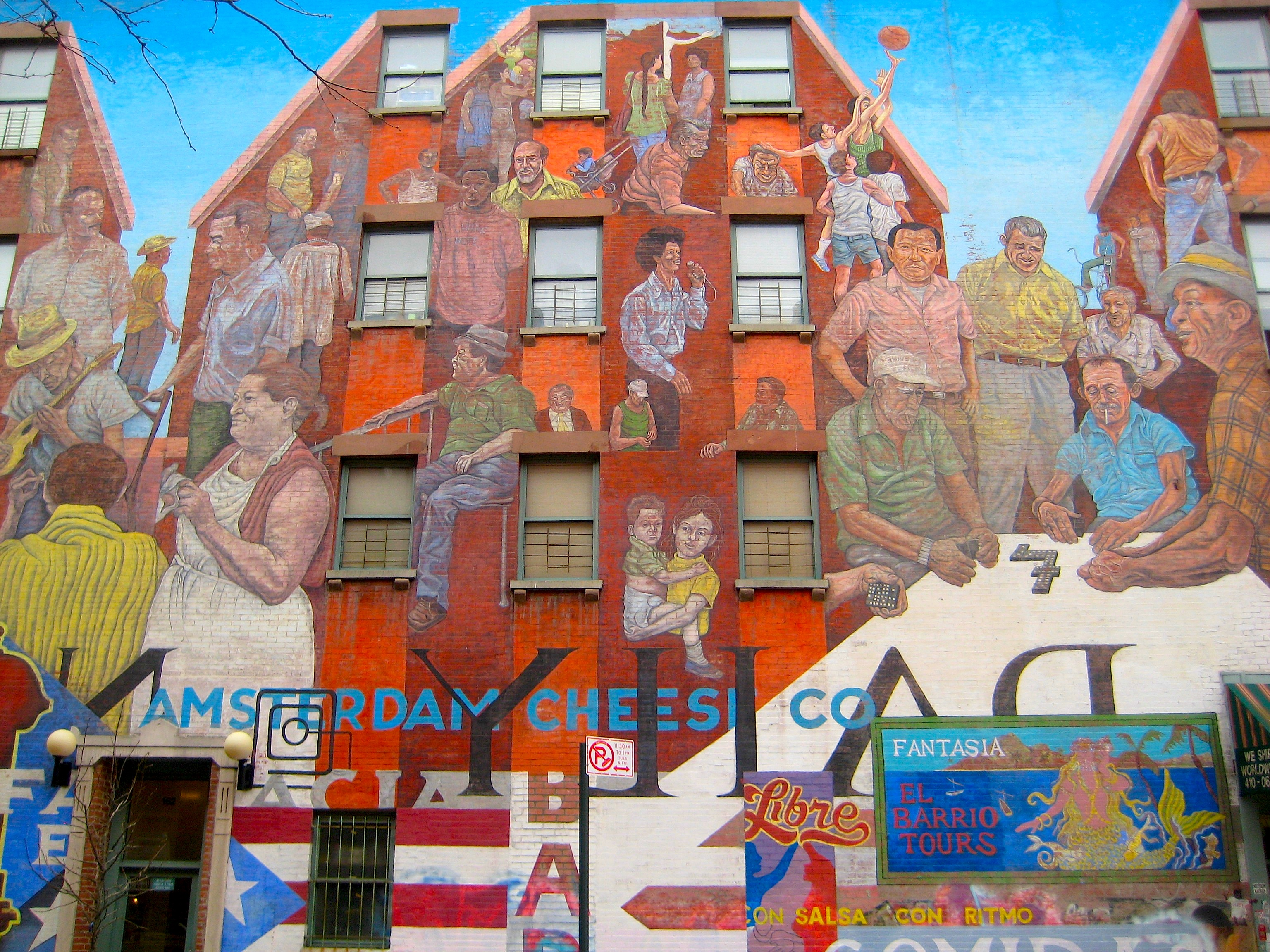 Image gallery east harlem for Telephone mural 1970