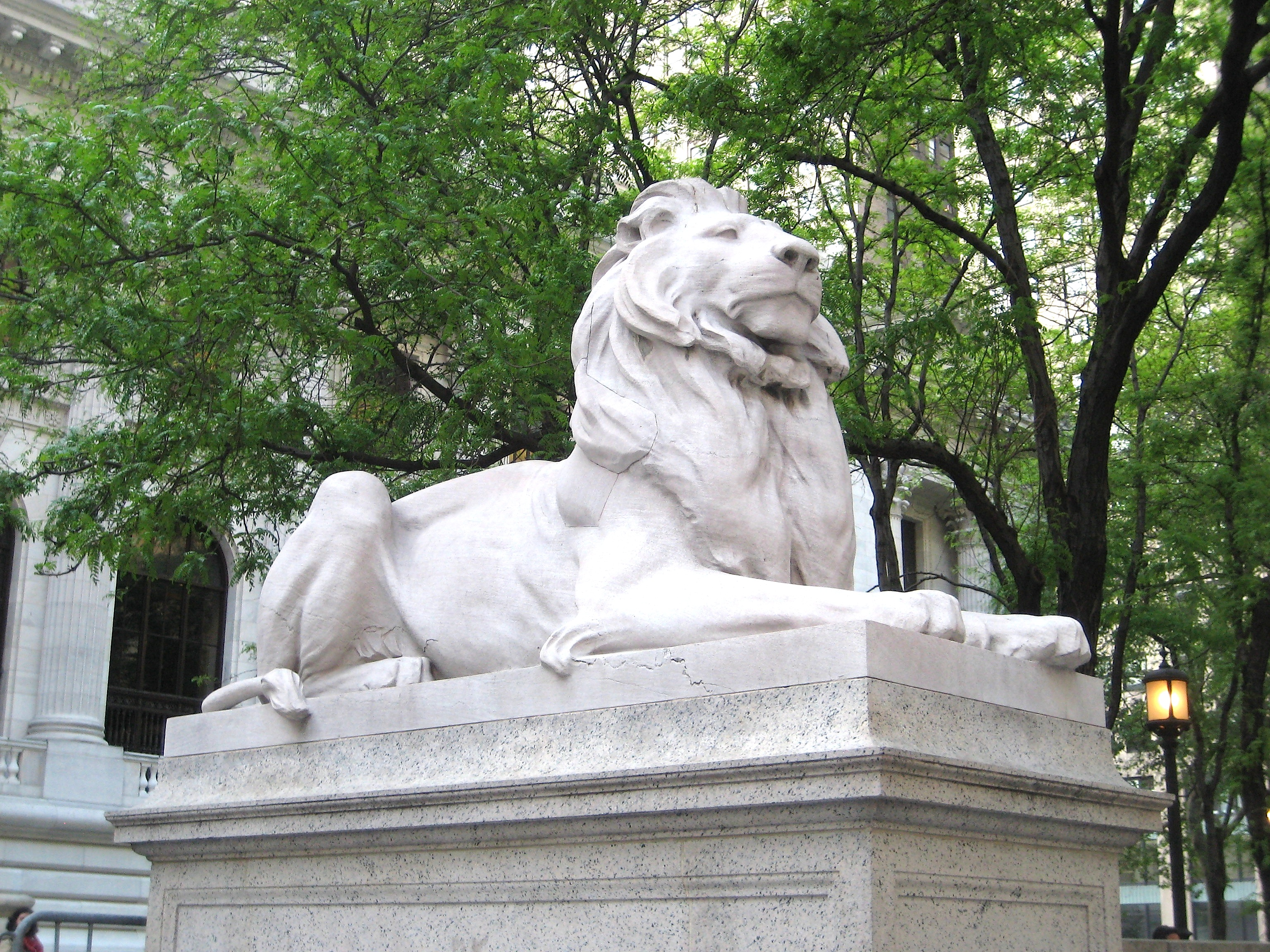 Library Lions statue NYC
