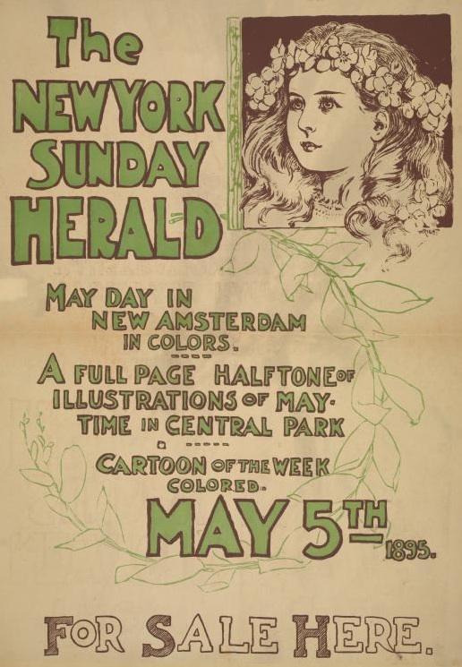 Lovely posters advertising the New York Herald   Ephemeral ...