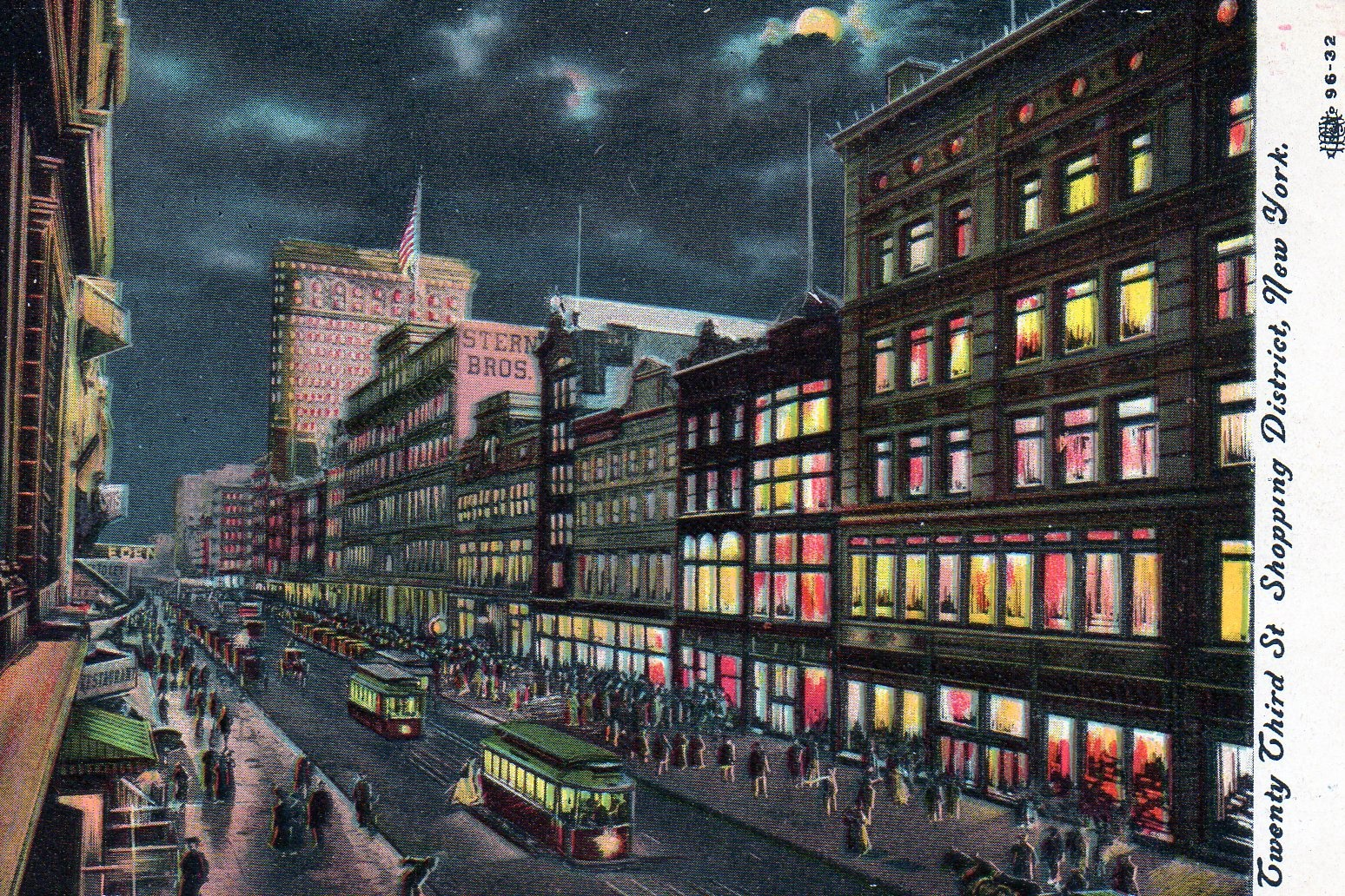 The 23rd street shopping district by night ephemeral for Home good stores nyc