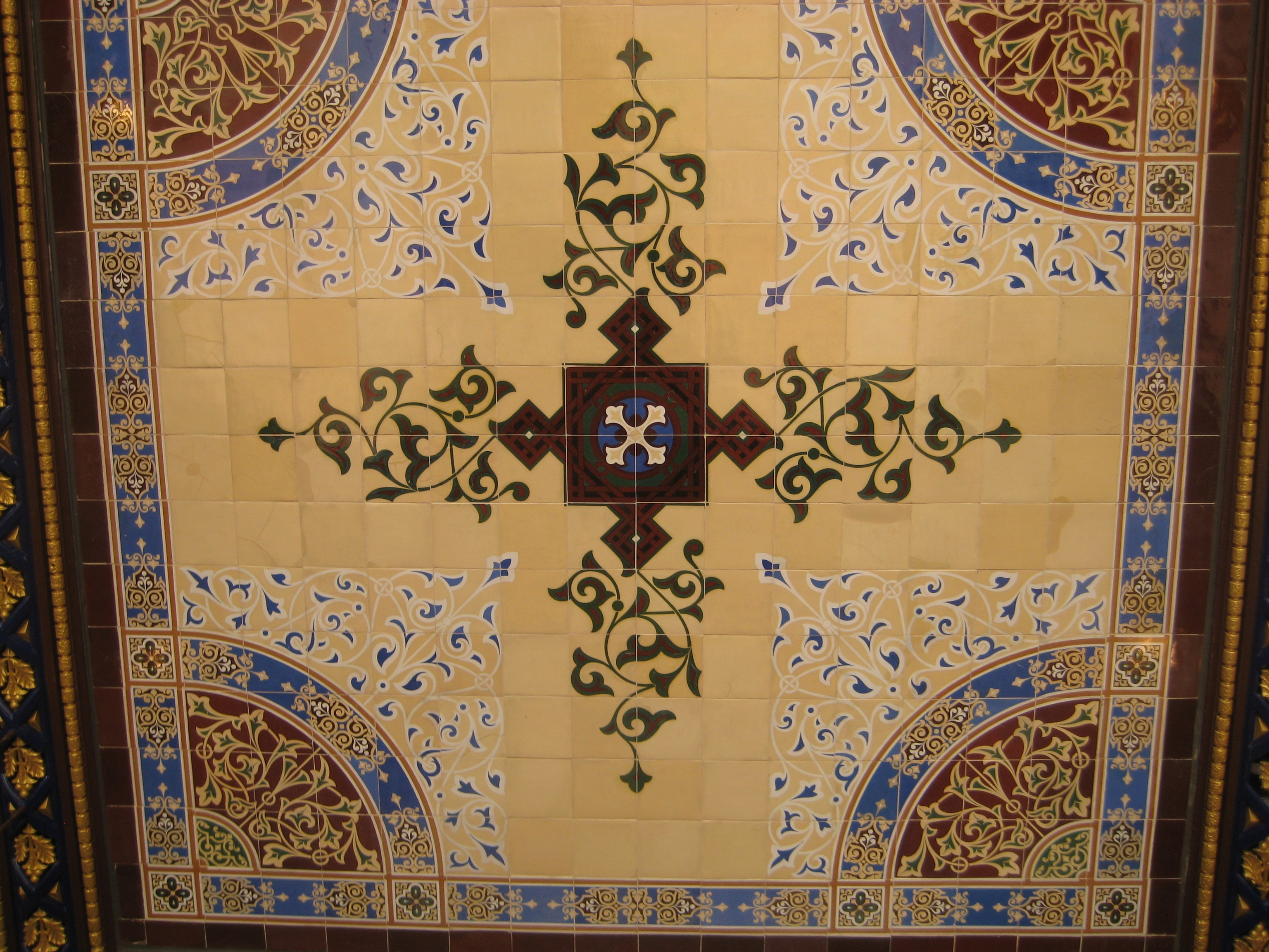 The dazzling tiles of a central park ceiling ephemeral new york installed dailygadgetfo Choice Image