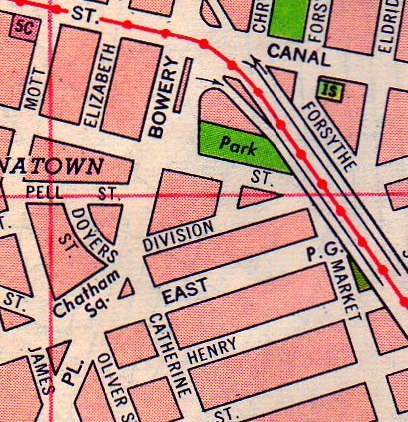 Chatham Square Subway Map.Chatham Street Ephemeral New York