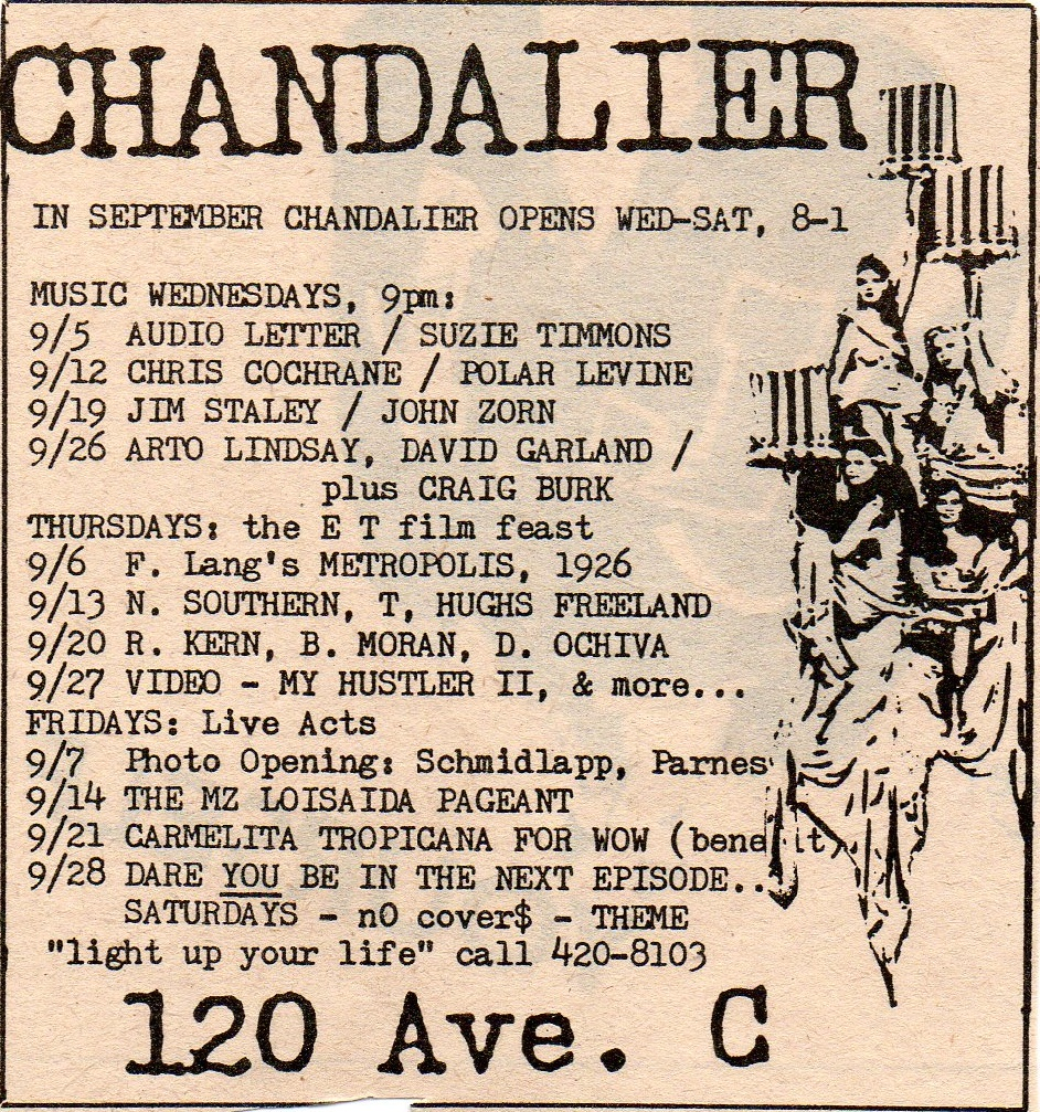 Old print ads Ephemeral New York Page 5 : 1980sclubchandelierad from ephemeralnewyork.wordpress.com size 942 x 1007 jpeg 647kB