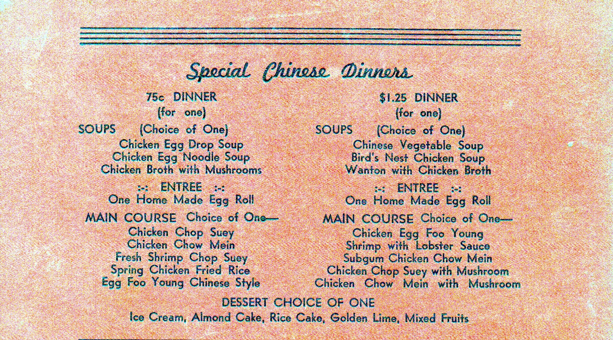 vintage menus   Ephemeral New York