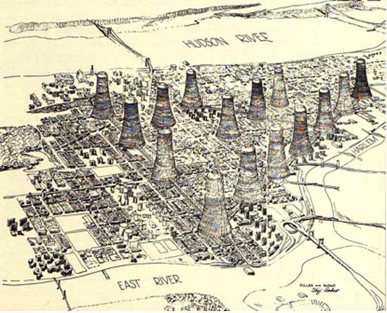 Dome Over Manhattan Ephemeral New York - New york city map harlem