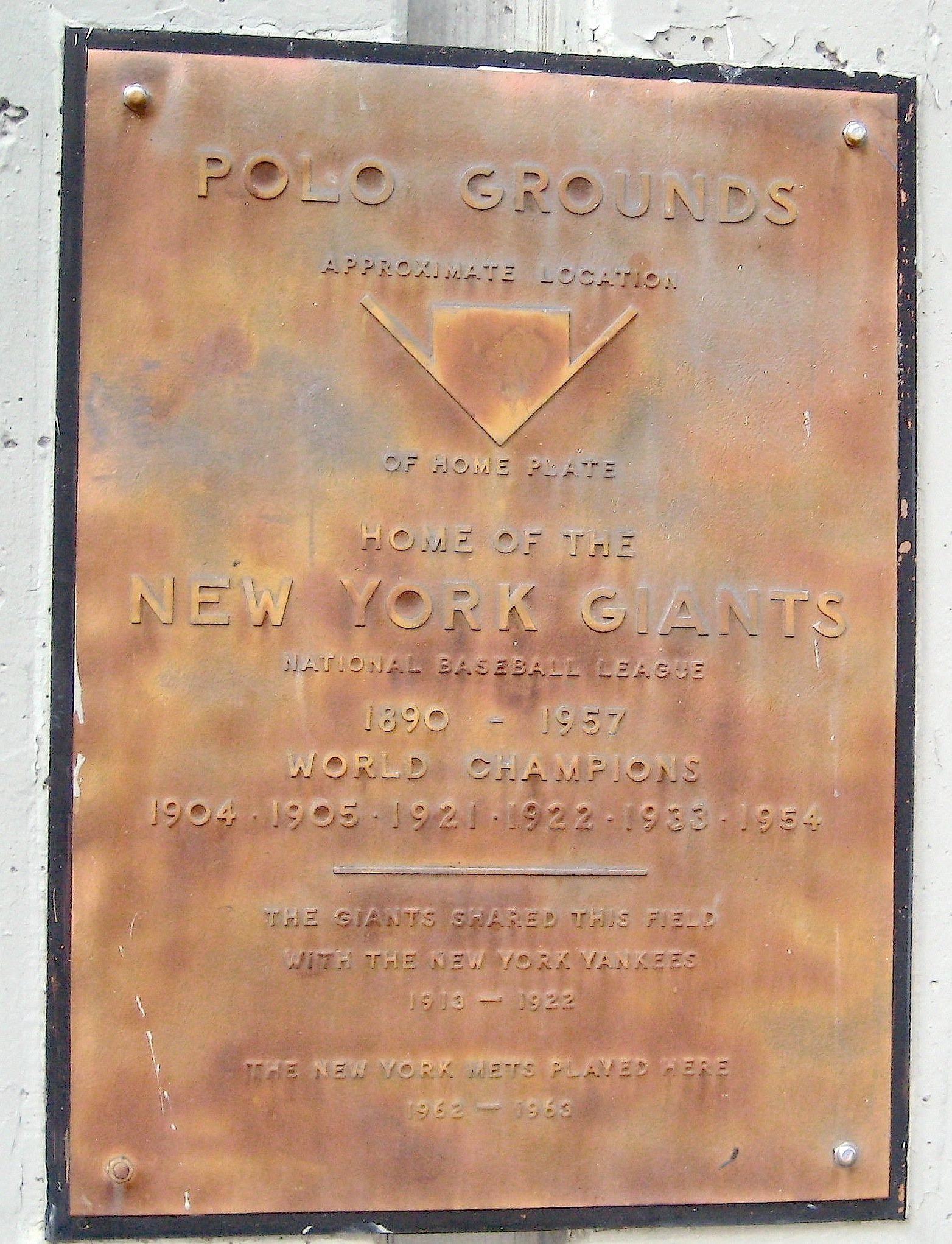 where home plate once was at the polo grounds ephemeral new york
