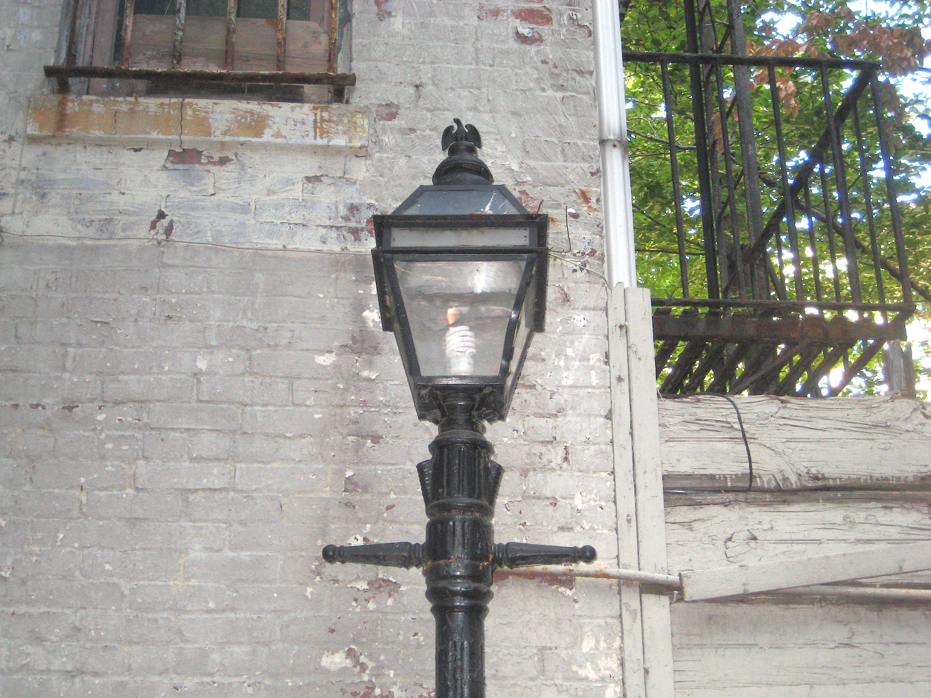 New Yorku0027s Last Gas Lamp In A West Village Alley