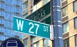 27thstreetsign