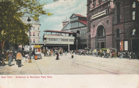 Brooklynparkrowpostcard