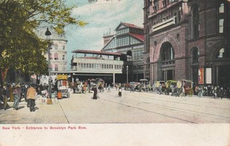 Brooklynparkrowpostcard