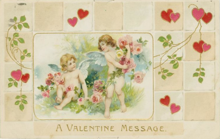 Vintage Valentine cards – Anonymous Valentine Card