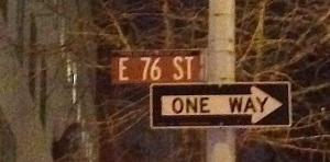 East76thstreetsign