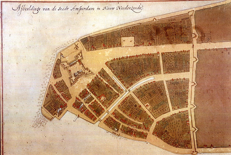1660 map depicts new york's humble start
