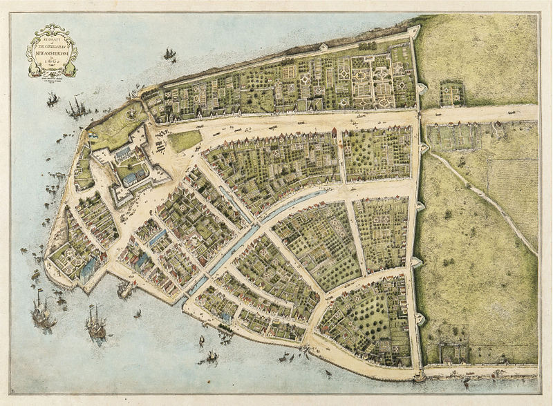 A Map Depicts New Yorks Humble Start Ephemeral New York - Antique maps amsterdam