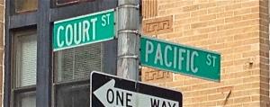 Courtandpacificstreetssign
