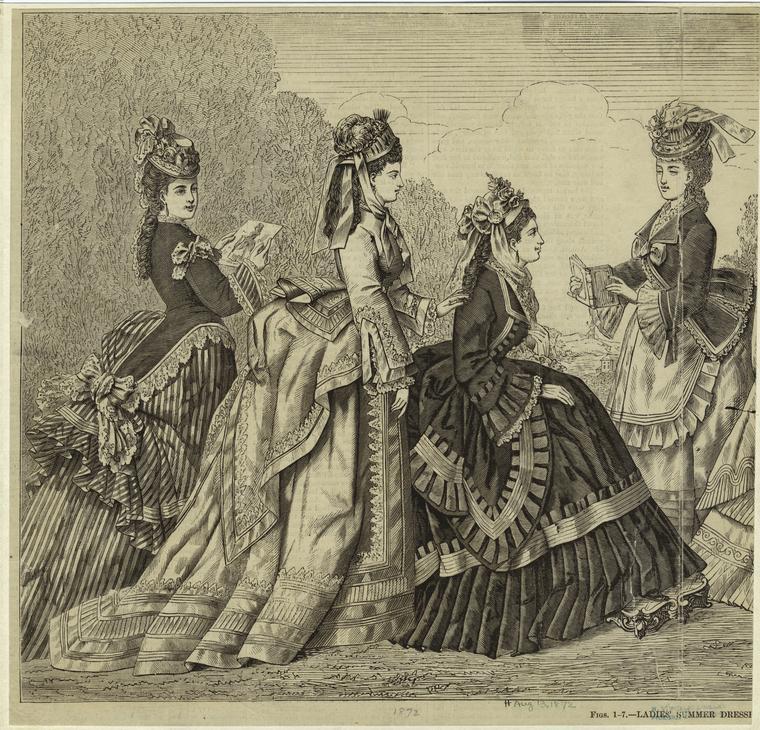 What trendy new york girls wore in summer 1872 ephemeral new york