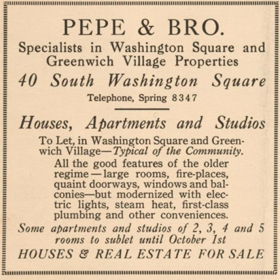 Apartment Classifieds Ny: Vintage Real Estate Ad New York City