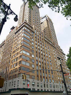 Upper west side history ephemeral new york for Central park apartments new york