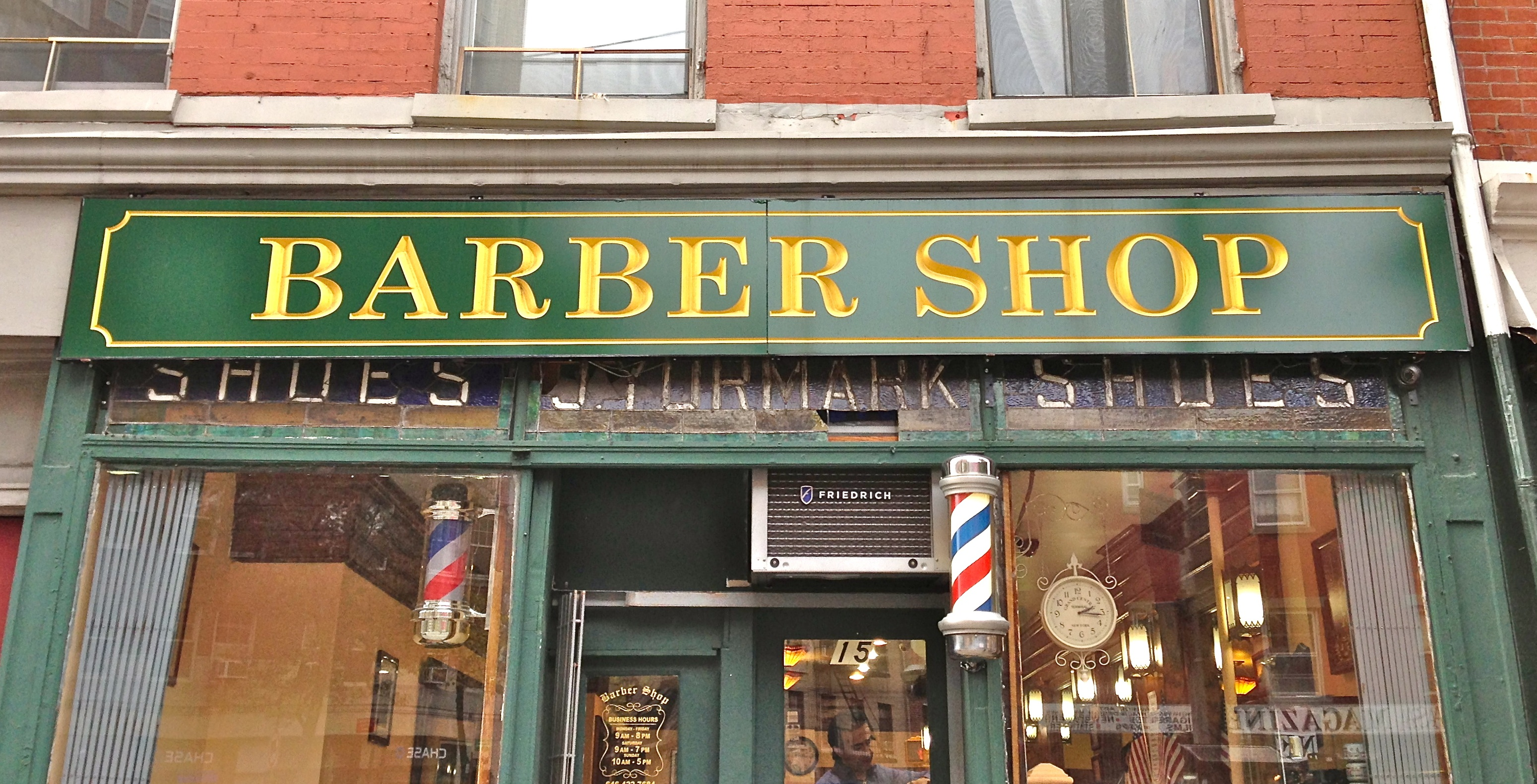 Old Fashioned Barber Shop New York City