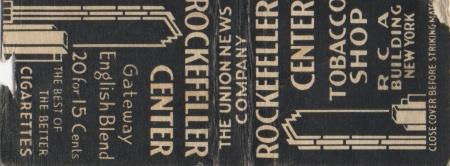 Rockcentermatchbook