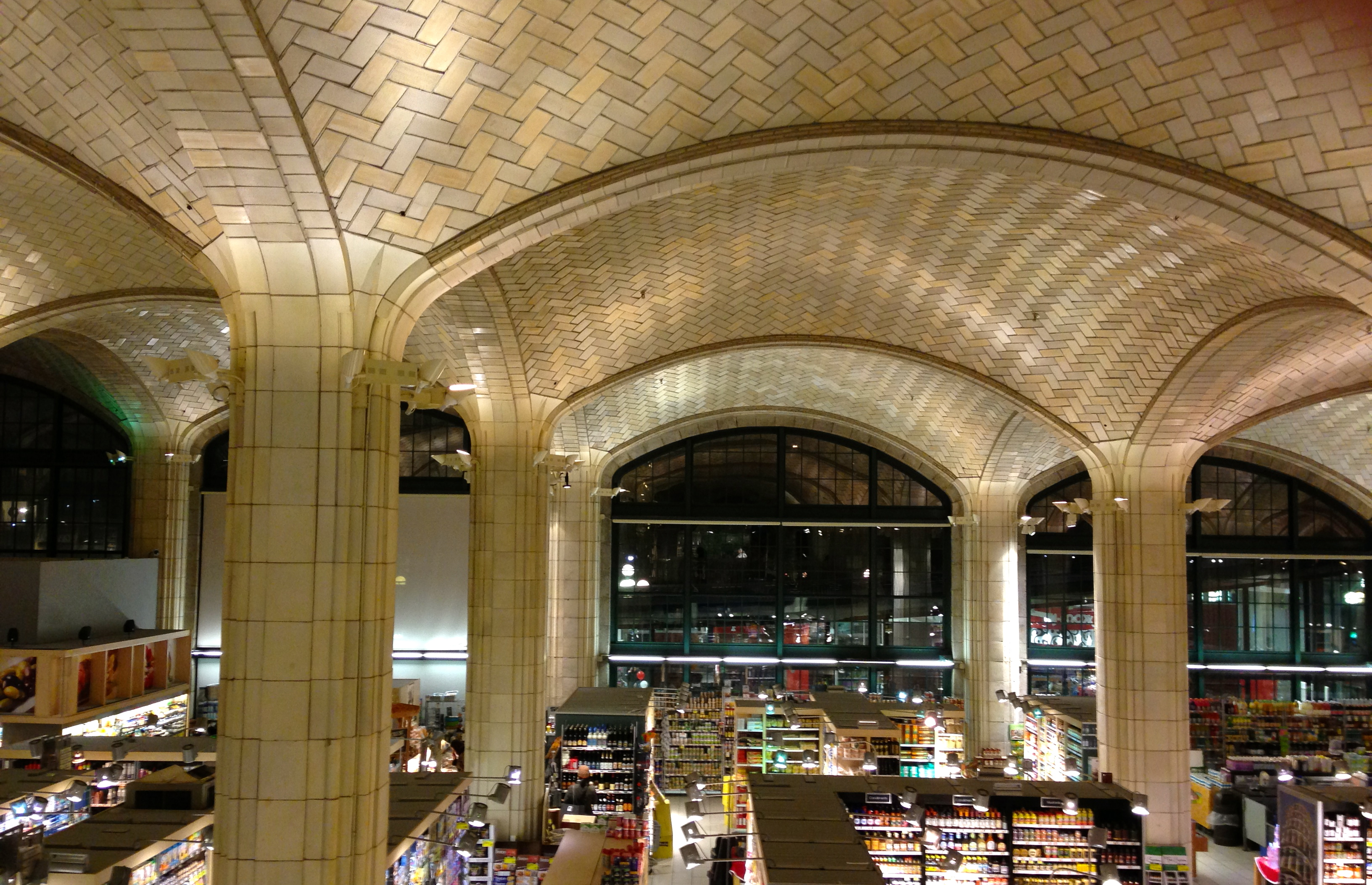 An East Side Supermarket S Lovely Vaulted Ceiling