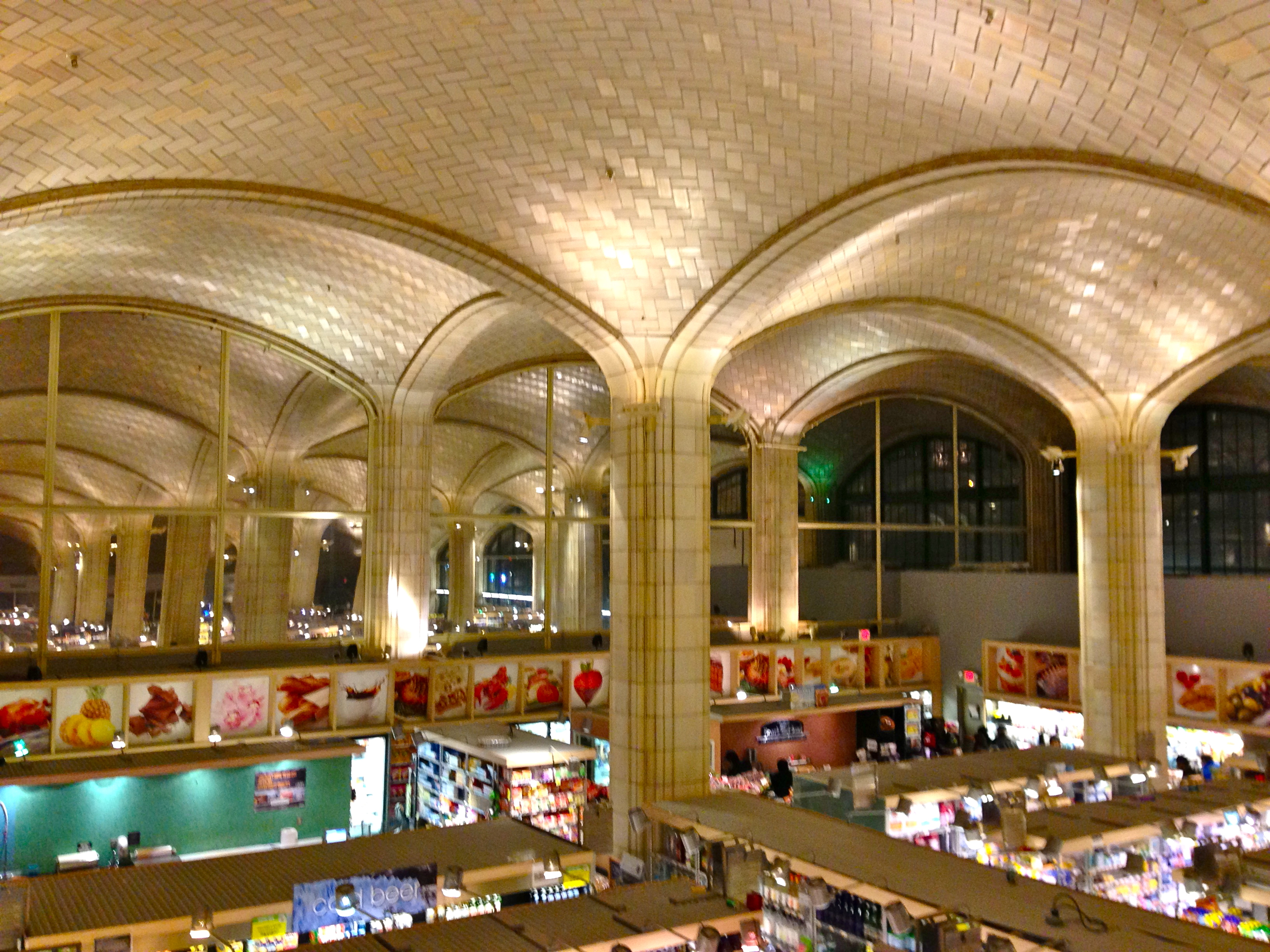 An east side supermarket s lovely vaulted ceiling for Beautiful ceilings and interiors