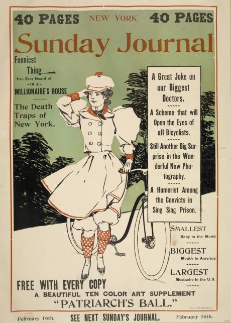 The Front Page Of Sunday Paper In 1896