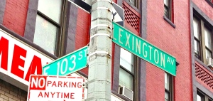 Lexington103rdstreetsign
