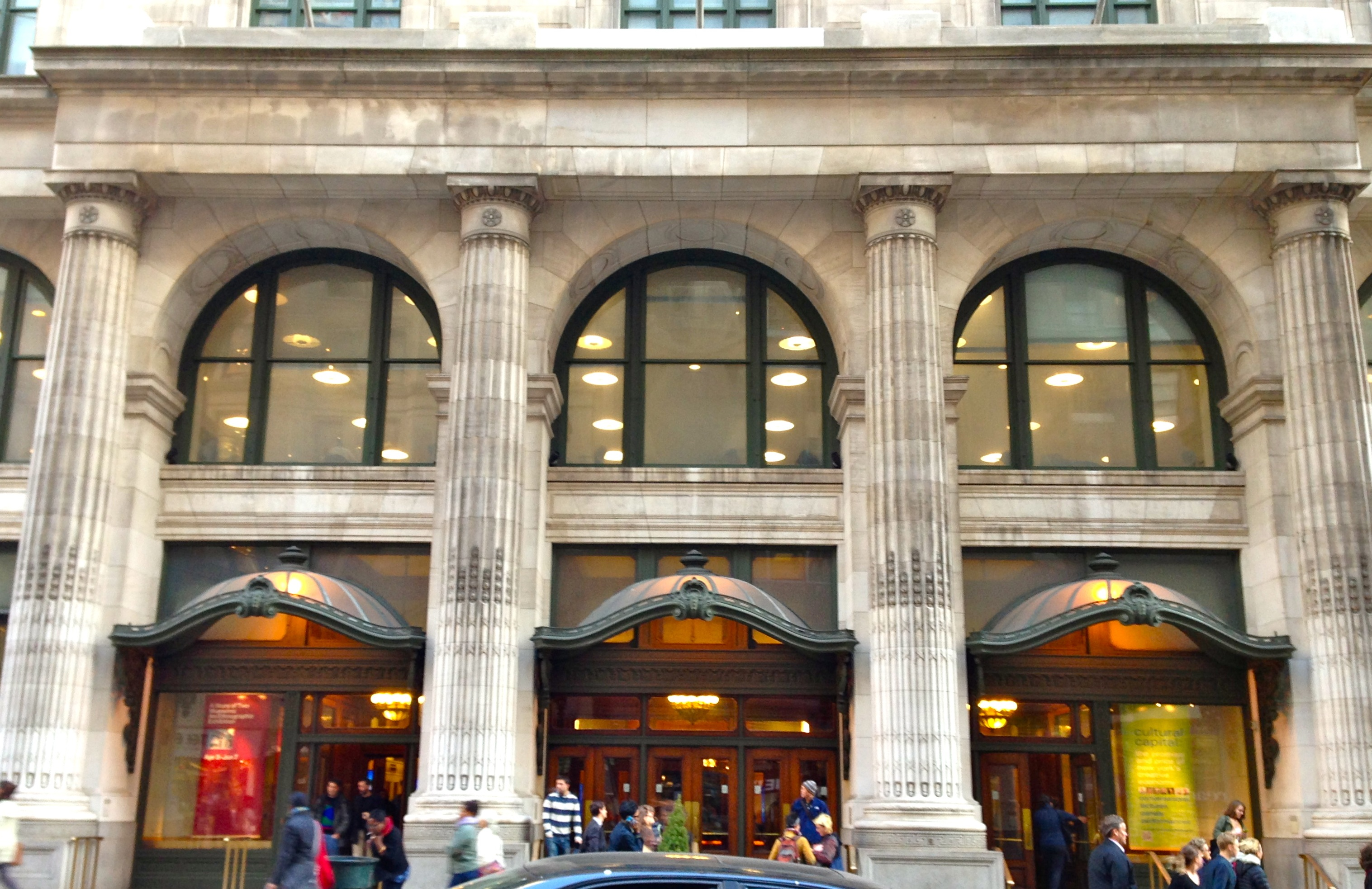 ionic columns new york buildings ephemeral new york