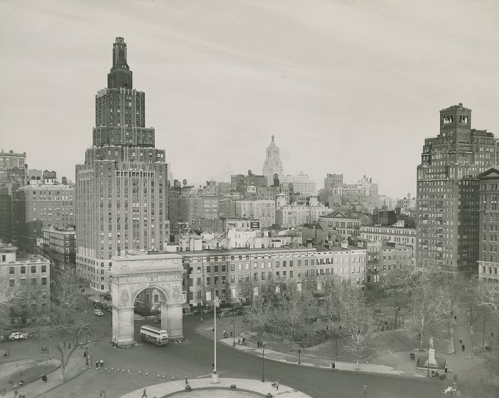 Washington square park proposed many times through the 1950s by