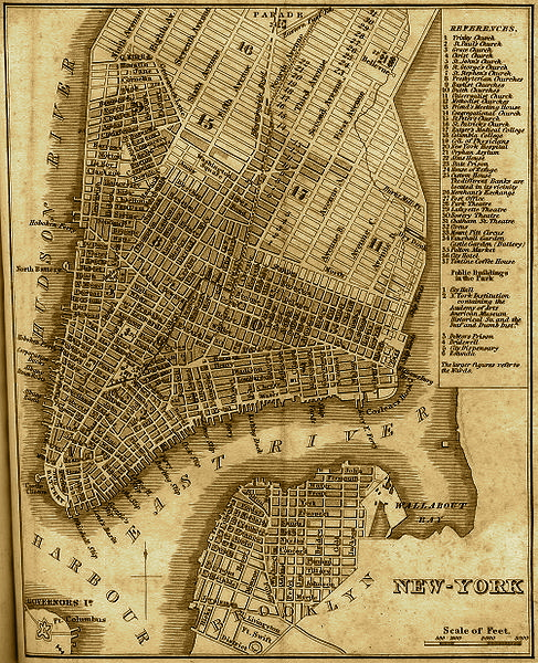 Map Of New York 1850.New York Map 1842 Ephemeral New York