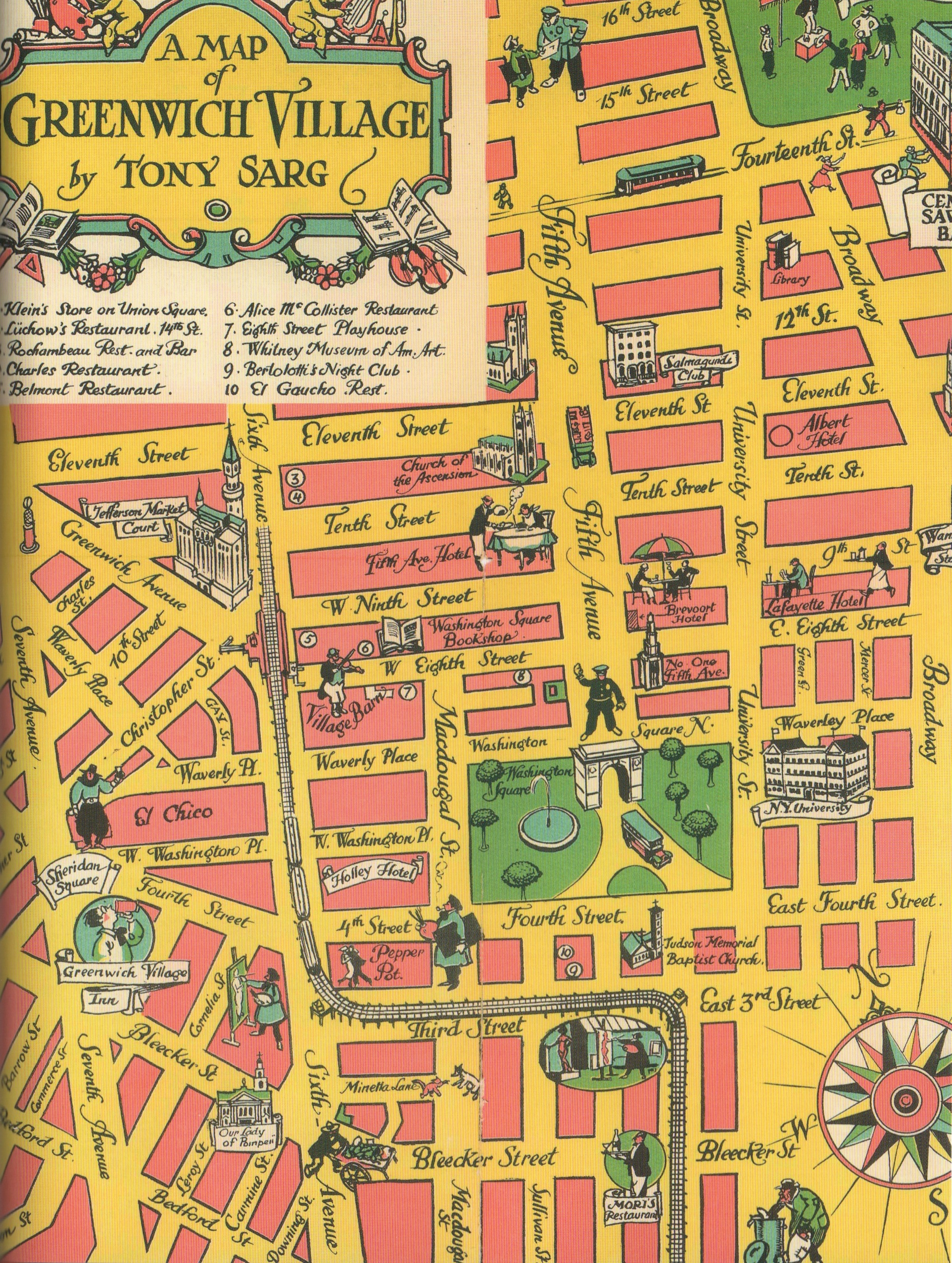 Map Of Greenwich Village An incredible map of 1930s Greenwich Village | Ephemeral New York Map Of Greenwich Village