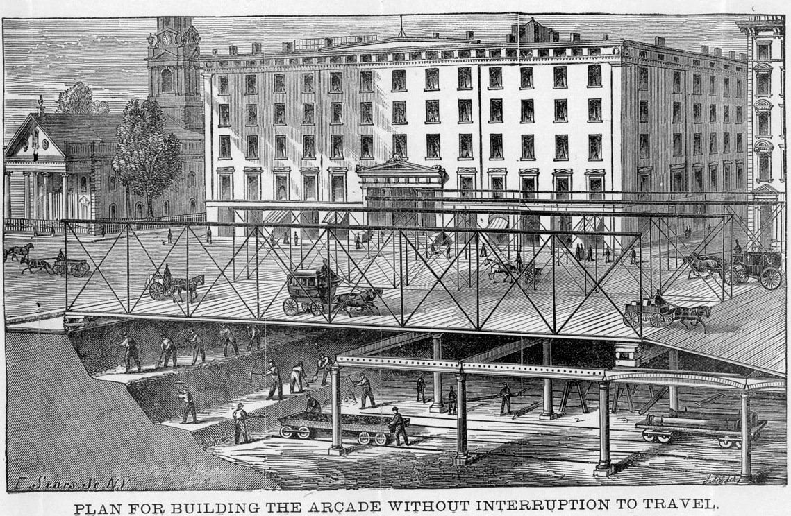 An arcade railway never built below broadway ephemeral for Ny transit museum store