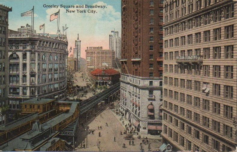 greeley square postcard ephemeral new york