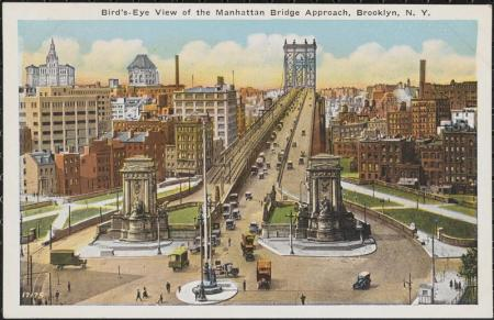Manhattanbridgeapproach1925mcny