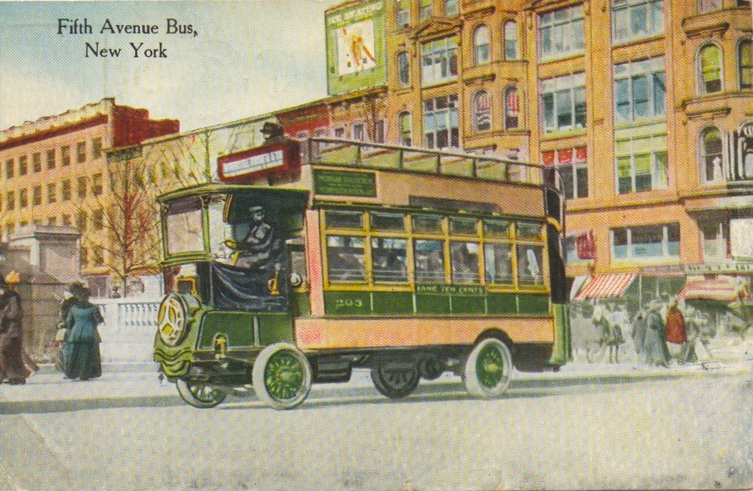 What the Fifth Avenue bus looked like in 1920